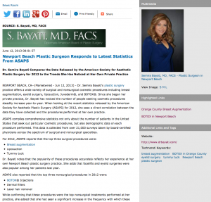 plastic surgery, breast augmentation, BOTOX, Newport Beach plastic surgeon, Dr. Semira Bayati