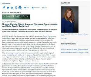 Semira Bayati, MD discusses Gynecomastia and Male Breast Reduction.